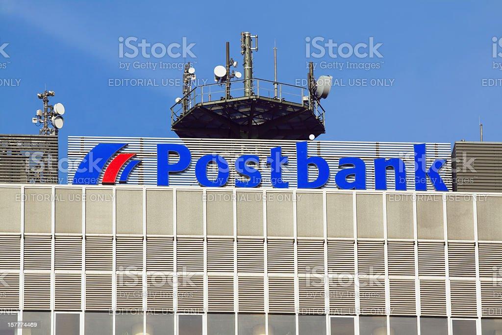 Postbank building stock photo
