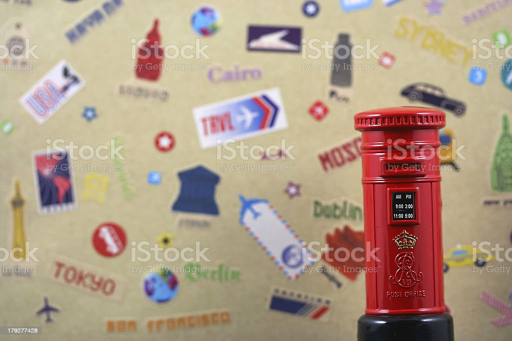 Postbox travel concept royalty-free stock photo