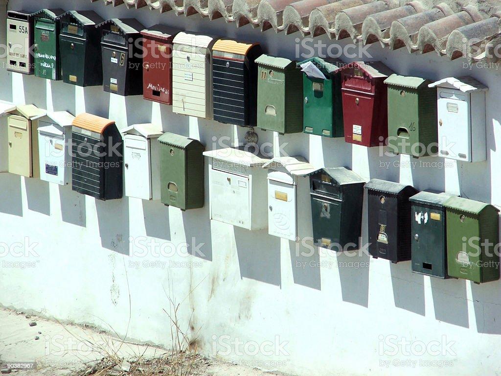 Postboxes stock photo