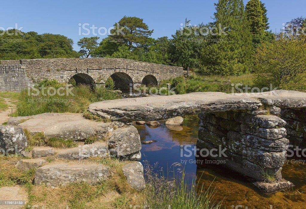 Postbridge Dartmoor National Park Devon England UK stock photo