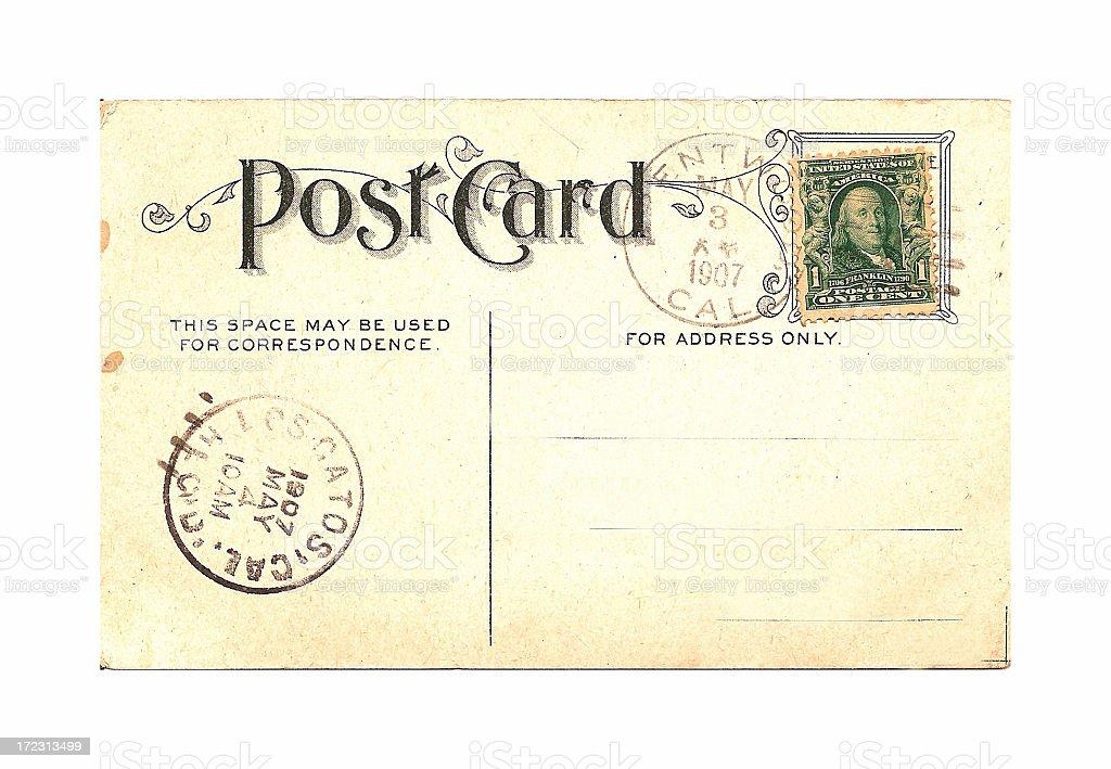 Postcard 1907 stock photo