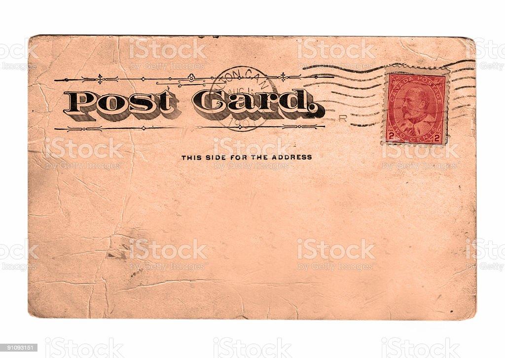 Postcard Back Circa 1907 stock photo