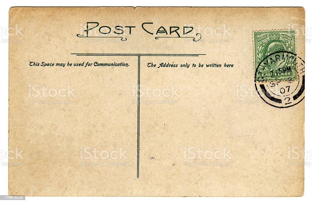 Postcard: Edward VII September 1907 stock photo