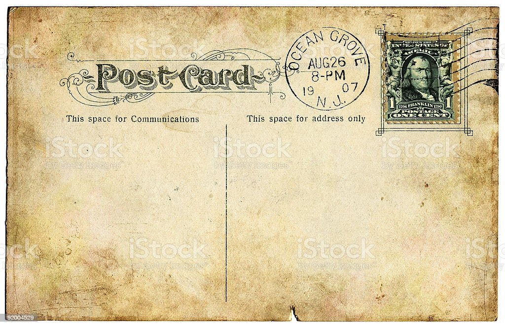 Postcard from 1907. stock photo