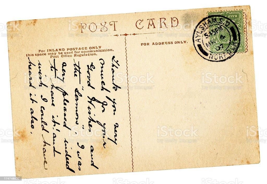 Postcard from Aylsham, Norfolk, 1907 stock photo