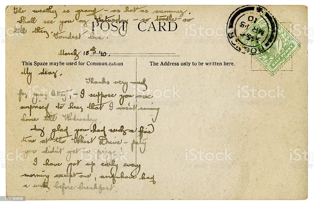 Postcard from Bognor, 1910 stock photo