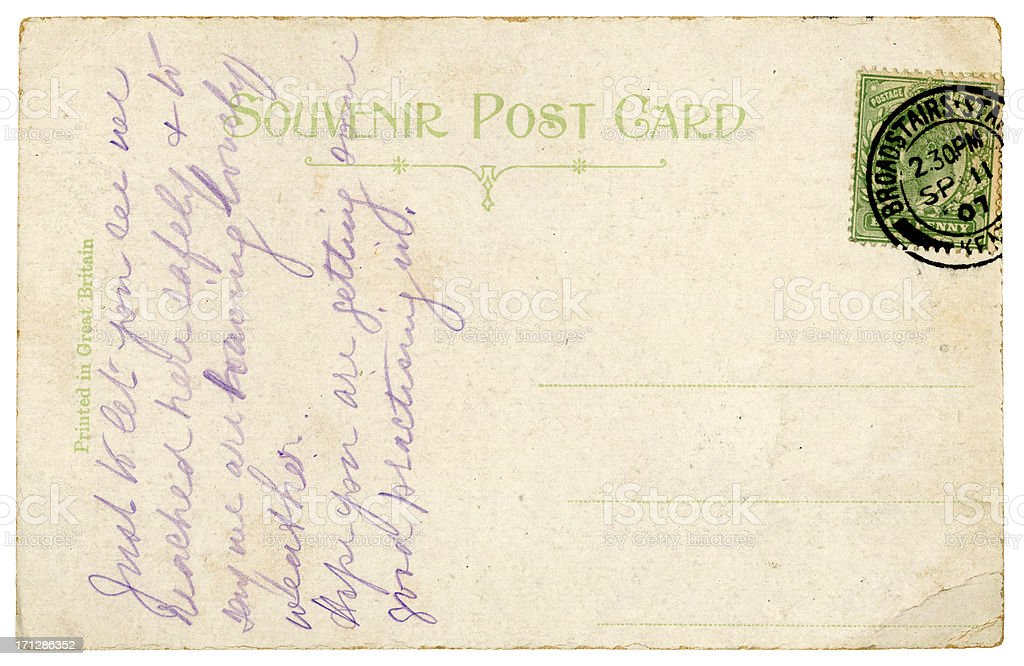 Postcard from Broadstairs, 1907 royalty-free stock photo