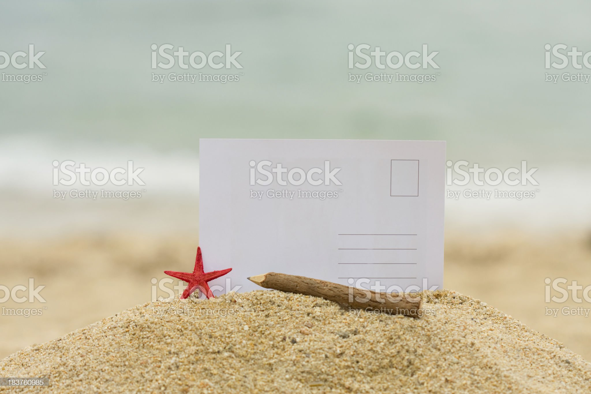 Postcard from holiday royalty-free stock photo