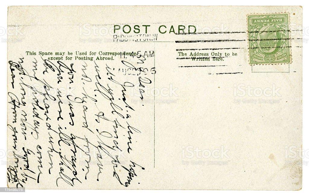 Postcard from Paddington, 1906 stock photo