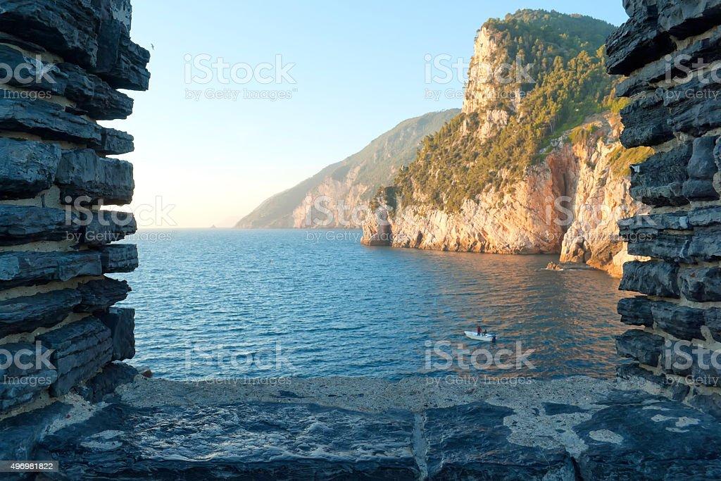 Postcard from Portovenere stock photo