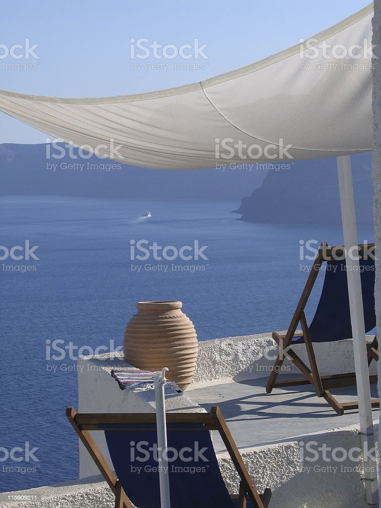 Postcard from Santorini royalty-free stock photo
