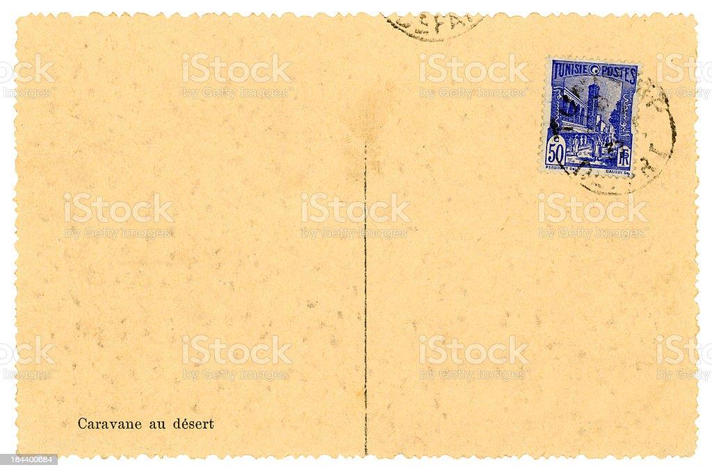 Postcard from Tunisia, 1937 royalty-free stock photo