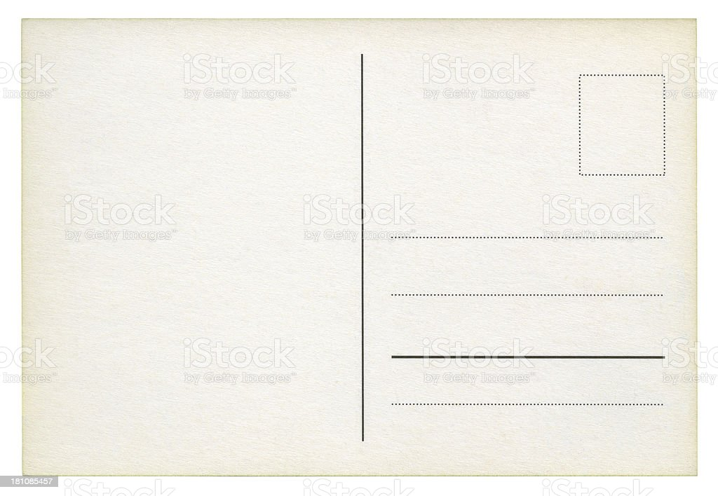 Postcard isolated (clipping path included) royalty-free stock photo
