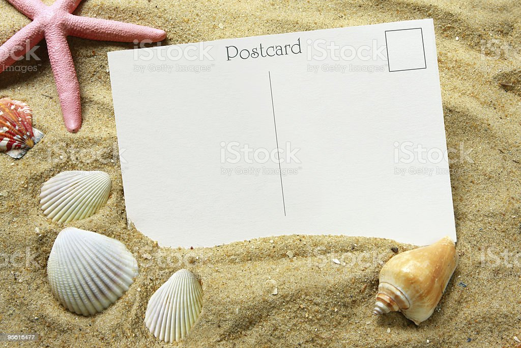 Postcard stock photo