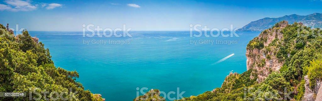 Postcard view of Amalfi Coast, Campania, Italy stock photo