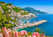 Postcard view of famous Amalfi Coast, Campania, Italy