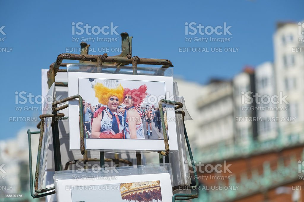 Postcards of Brightons Gay Pride Parade royalty-free stock photo
