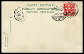 posted blank postcard  from Switzerland to France in early 1900s