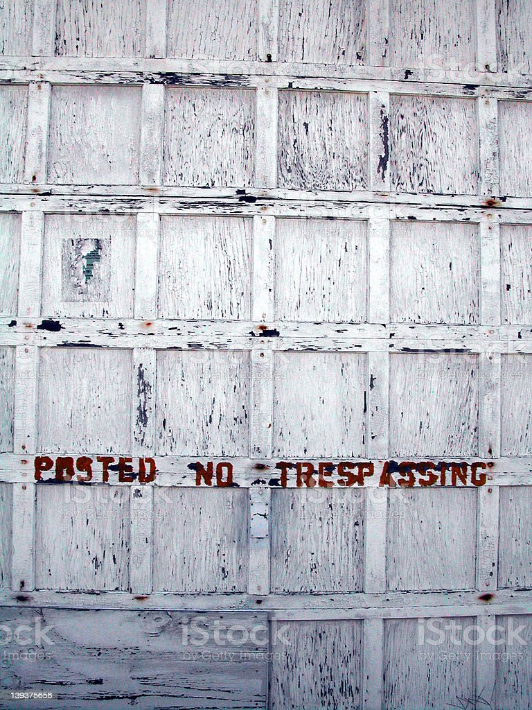 posted no tresspassing stock photo