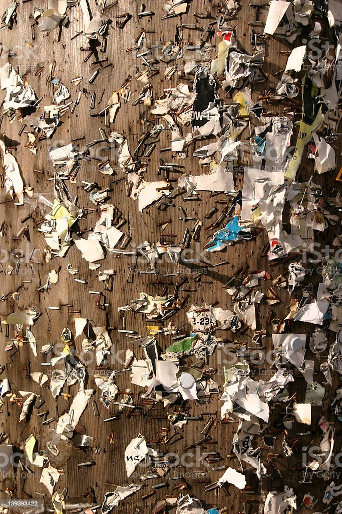 Poster board staples royalty-free stock photo