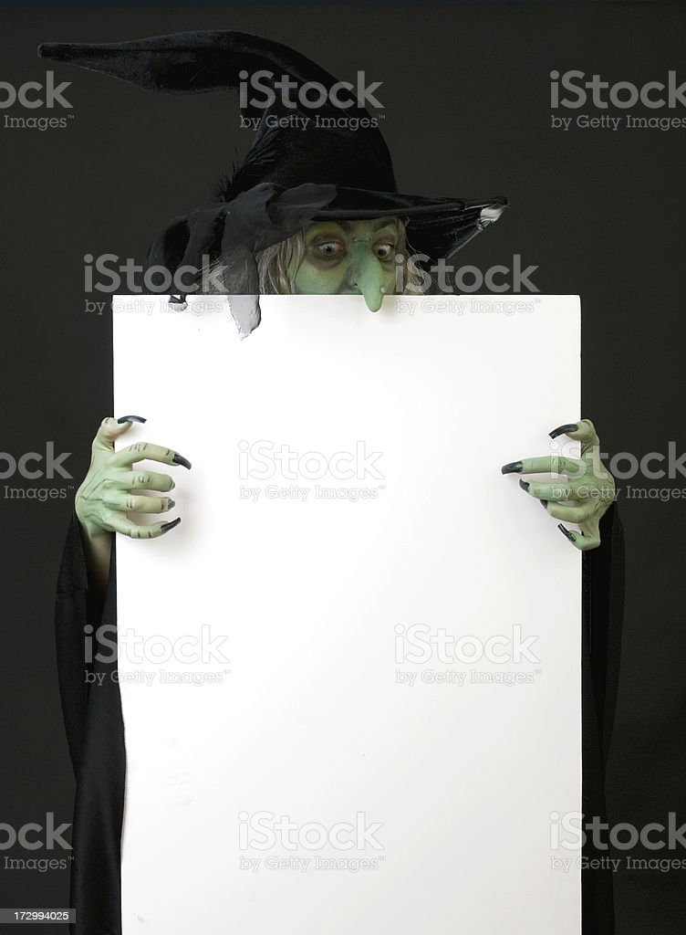 Poster Board Witch royalty-free stock photo