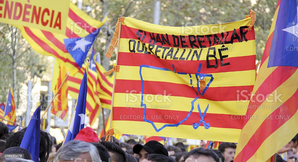 Poster for the independece of Catalonia stock photo