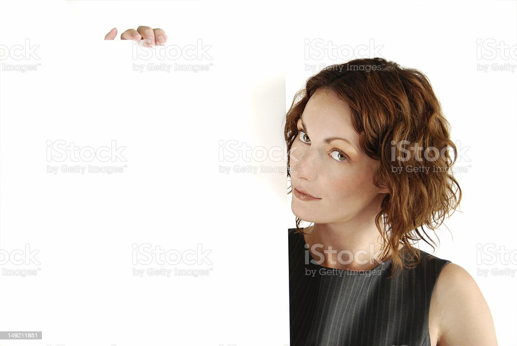Poster girl royalty-free stock photo