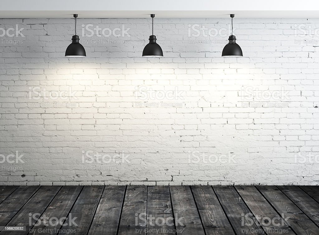 poster in white room stock photo