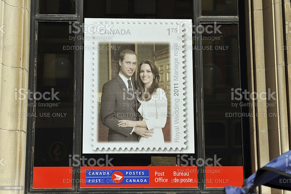 Poster of Royal Couple stamp stock photo