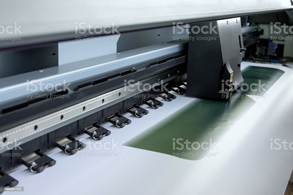 Poster printer stock photo