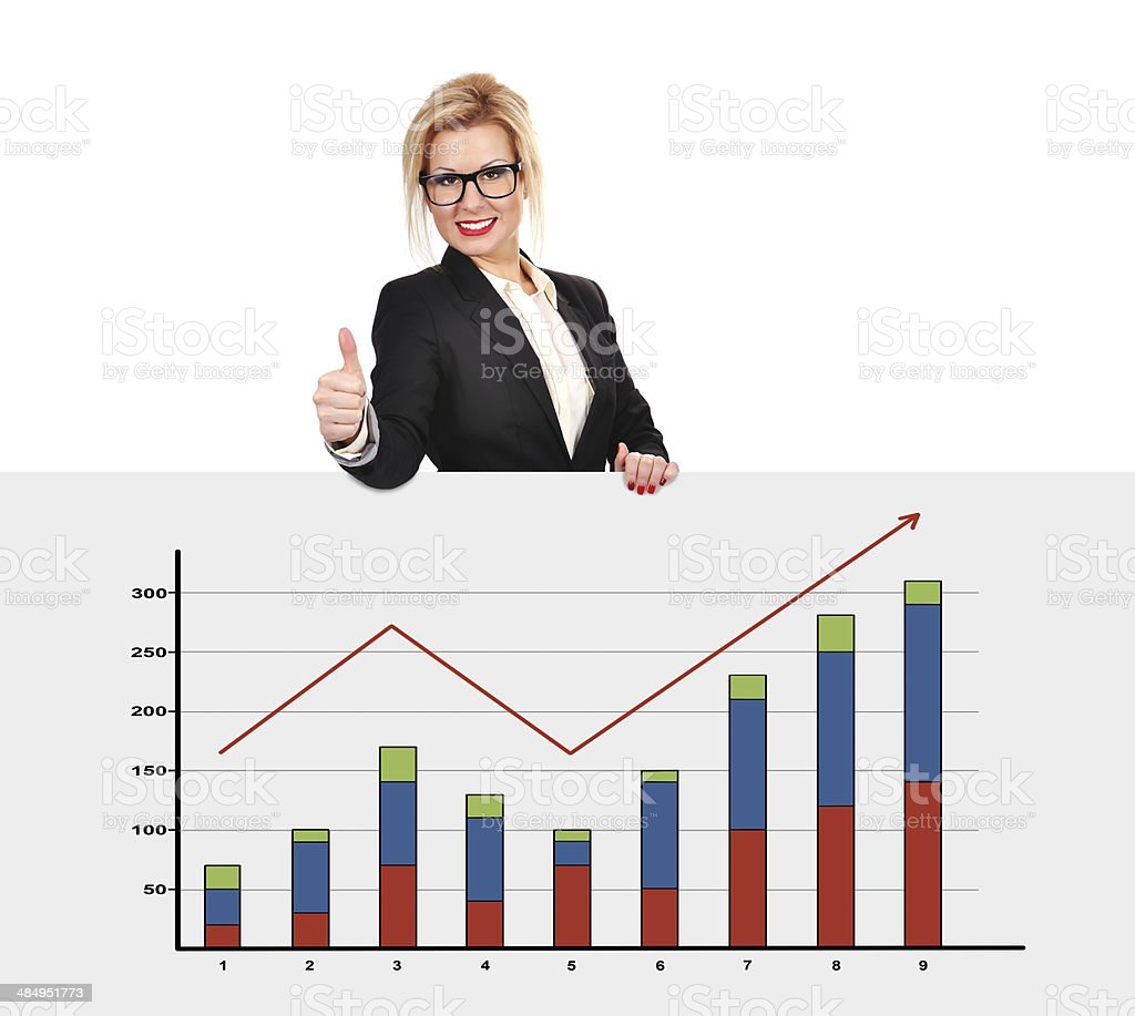 poster with graph royalty-free stock photo