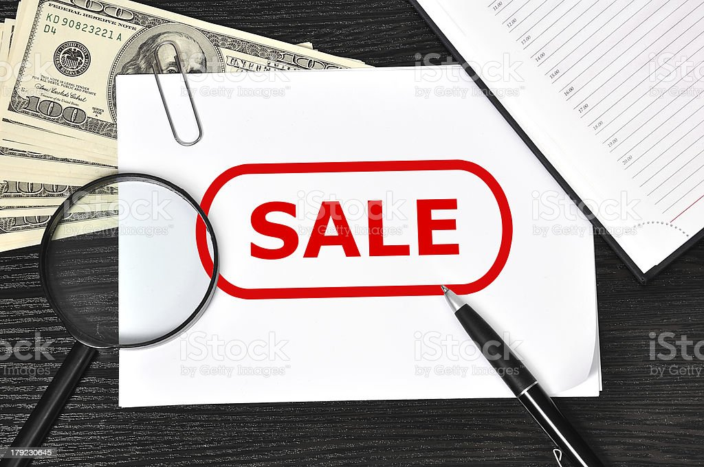 poster with sale royalty-free stock photo