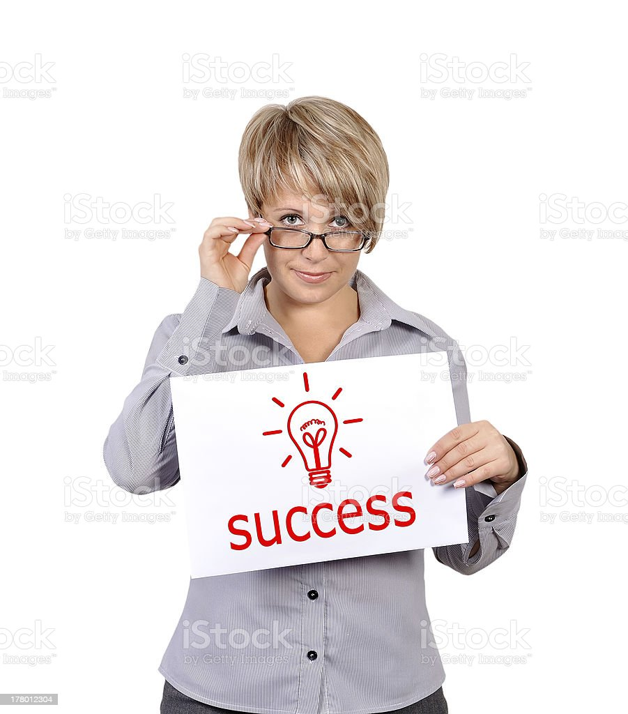 poster with success royalty-free stock photo