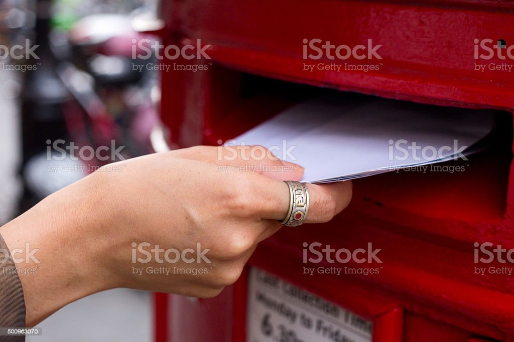 posting letters stock photo