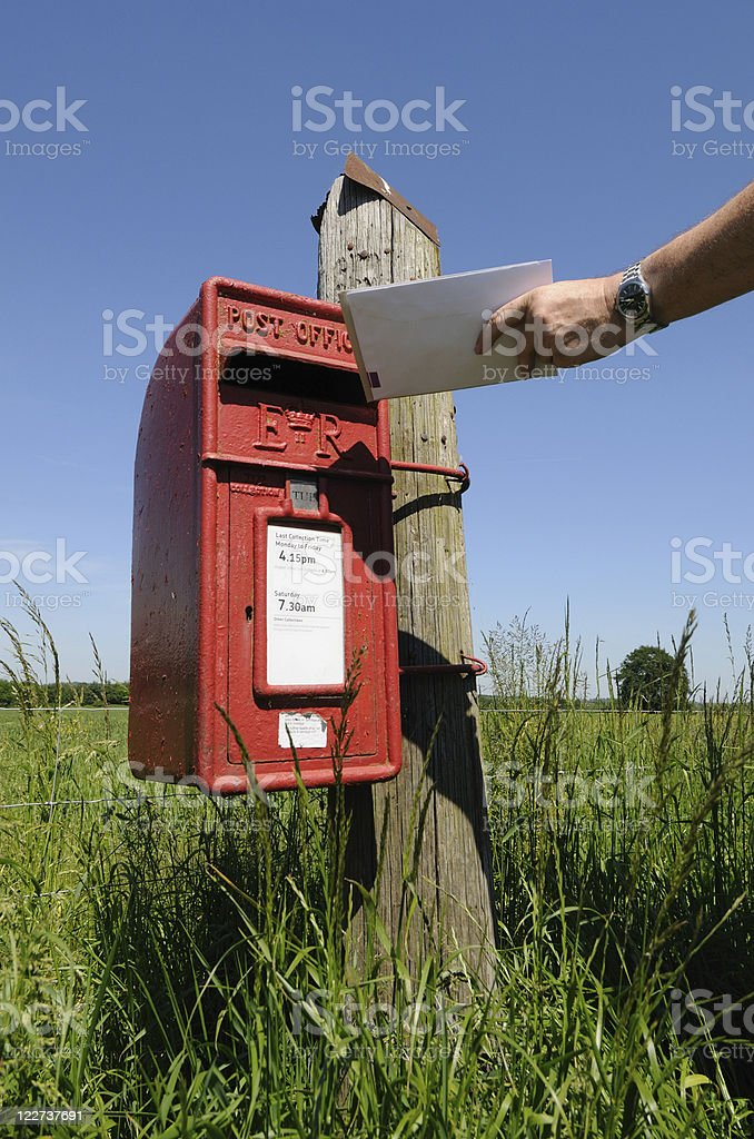 Posting Letters, Worcestershire royalty-free stock photo