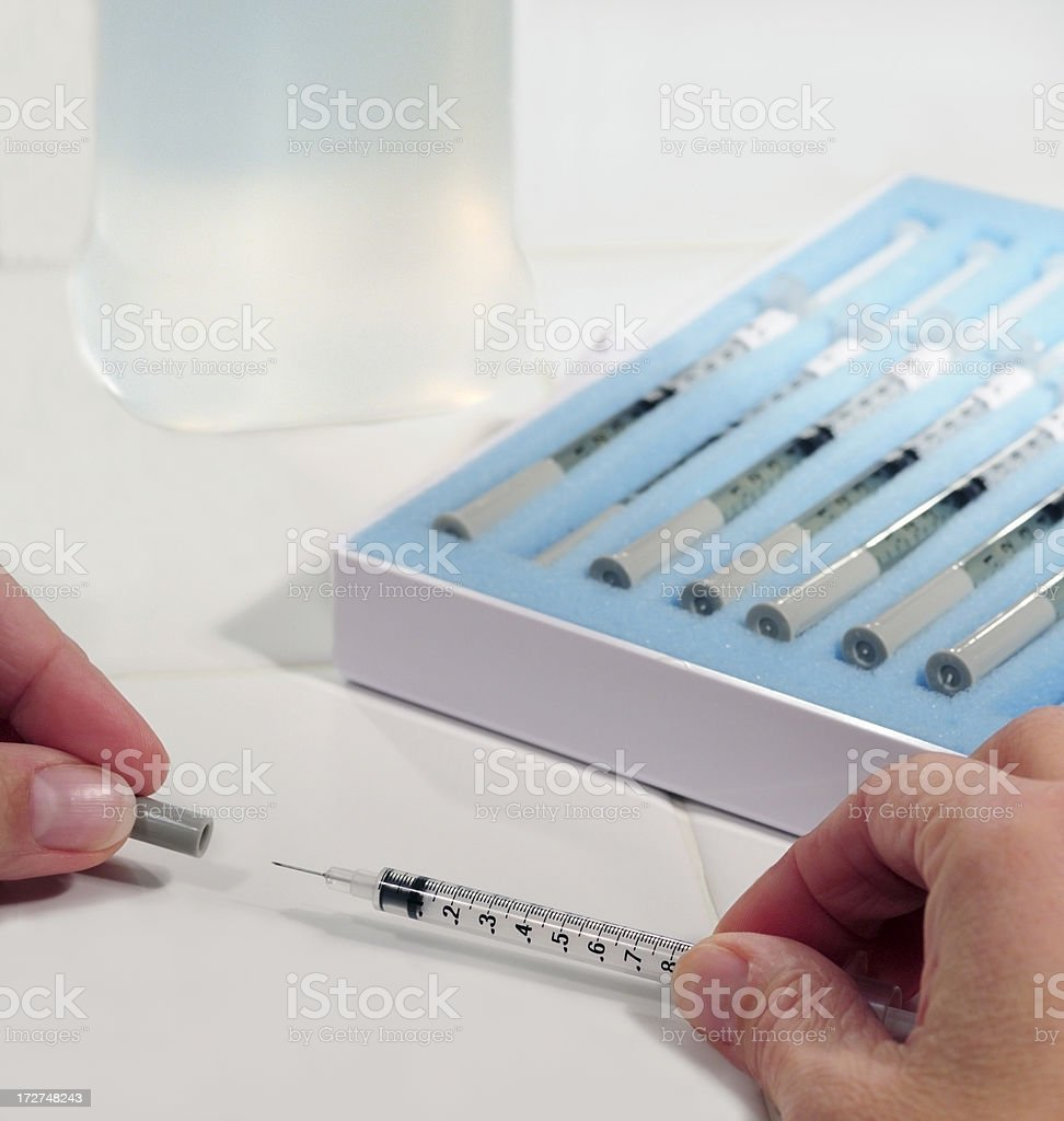 Post-Injection royalty-free stock photo