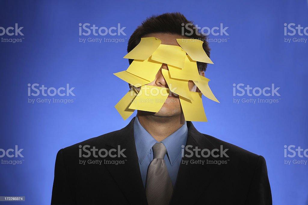 post-it man royalty-free stock photo
