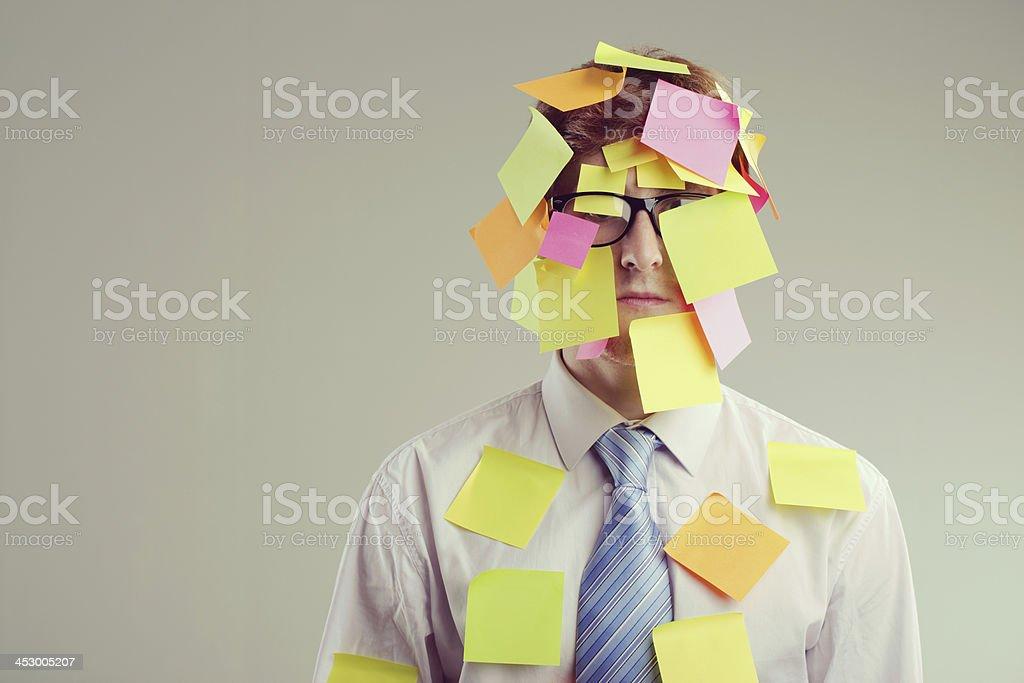 Post-it man stock photo