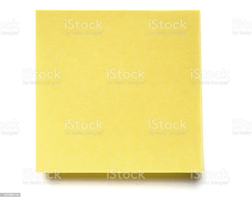 Post-it Note isolated on white royalty-free stock photo