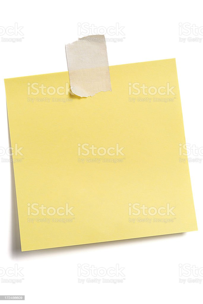 Post-it Note stock photo