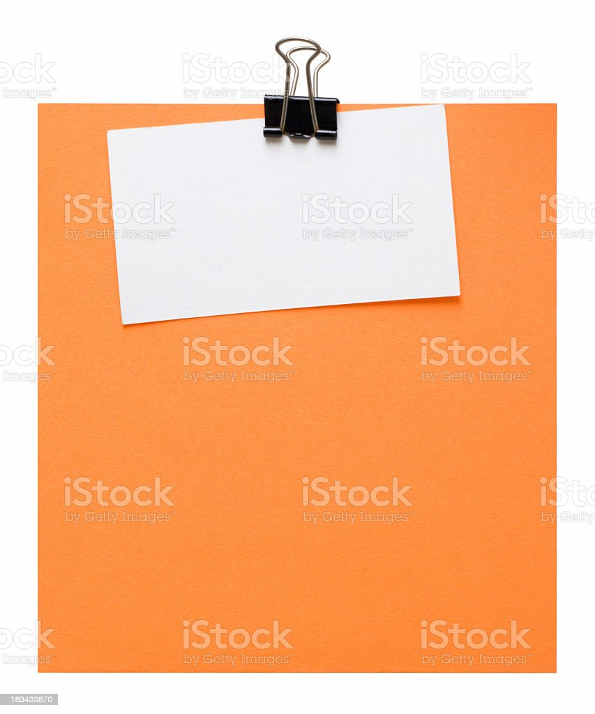 Post-it note (Clipping path) royalty-free stock photo