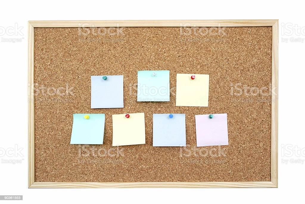 Post-it notes royalty-free stock photo