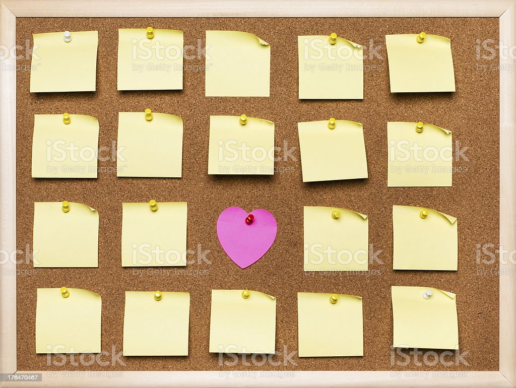 Post-it on cork board royalty-free stock photo