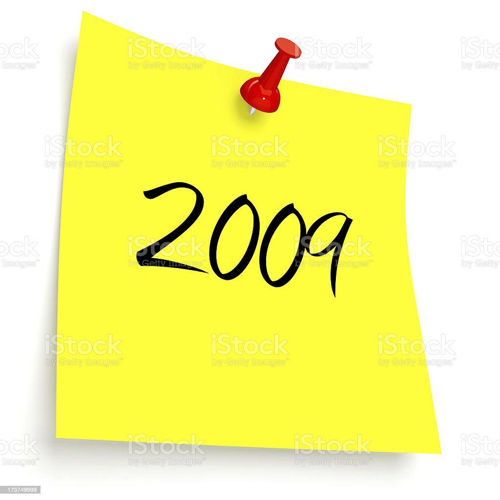 3D 2009 Post-it stock photo