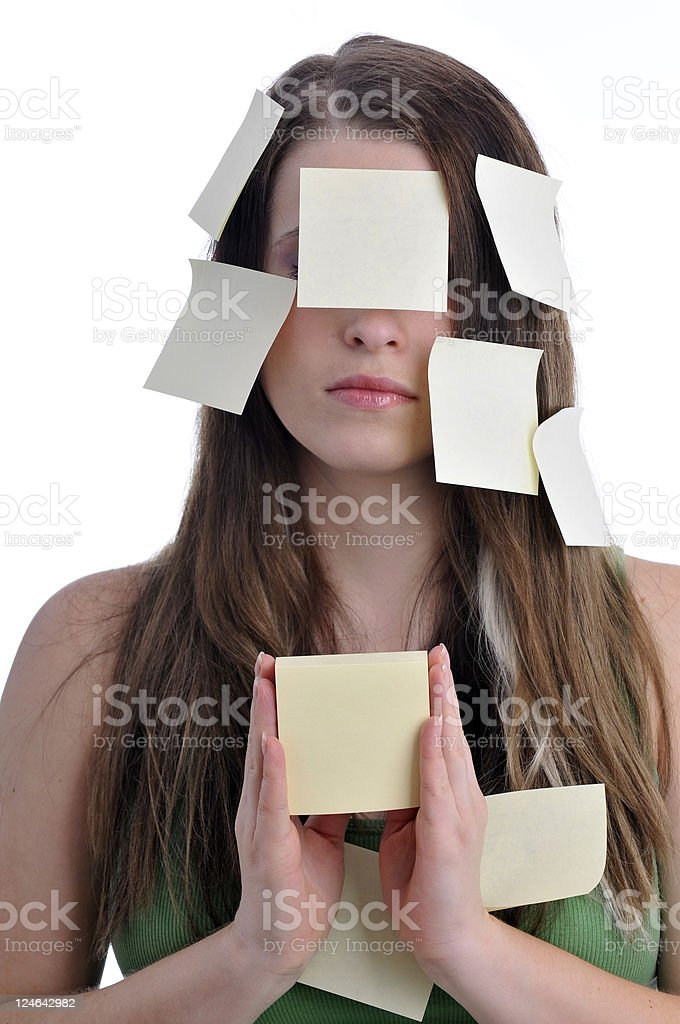 post-it woman royalty-free stock photo