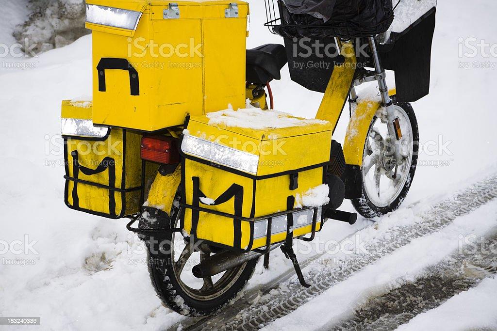 postman moped stock photo
