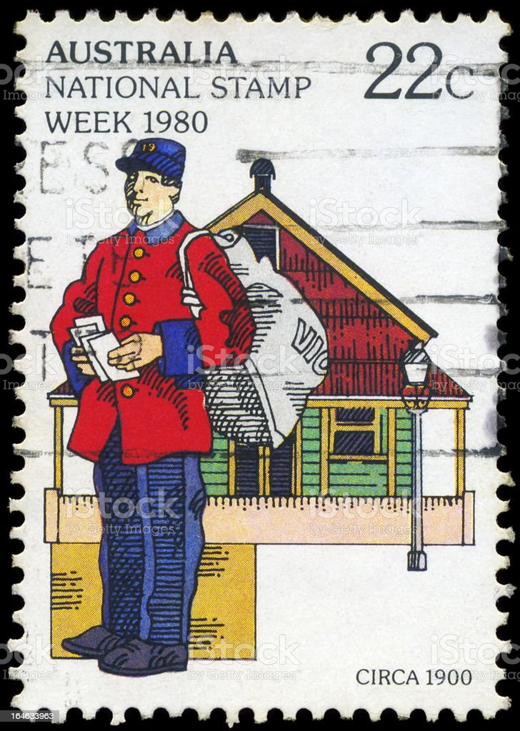 Postman royalty-free stock photo