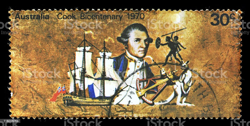 Postmark Australia stock photo