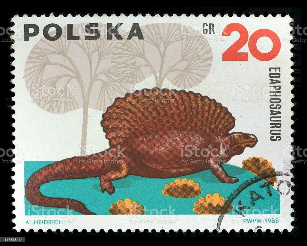 Postmark - Edaphosaurus stock photo