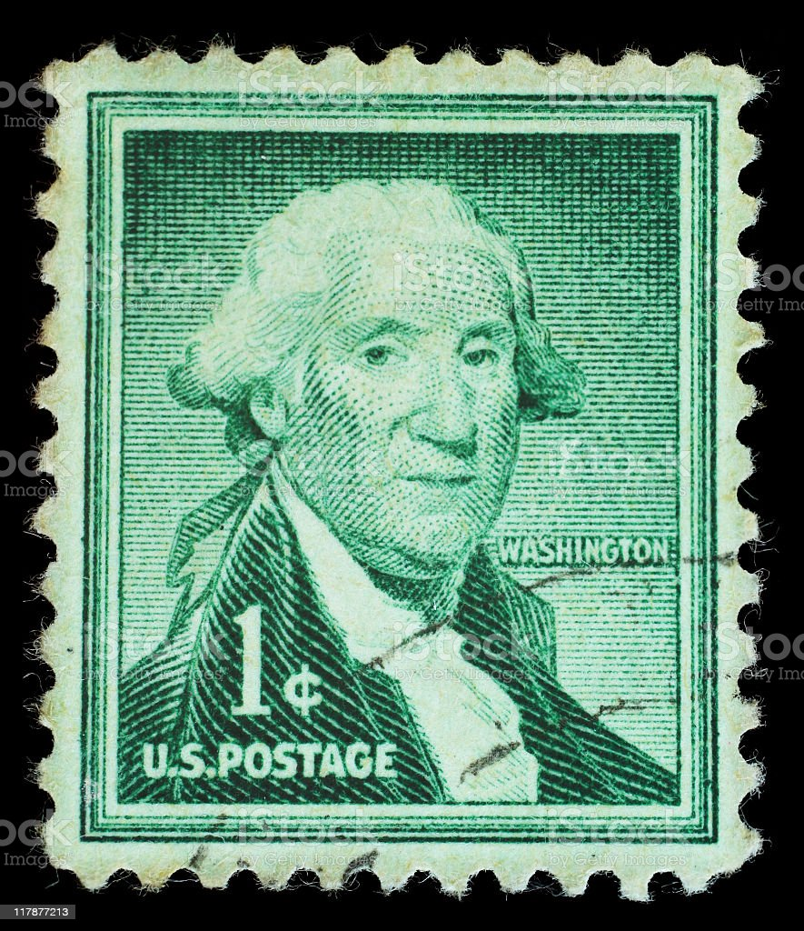 Postmark - George Washington stock photo